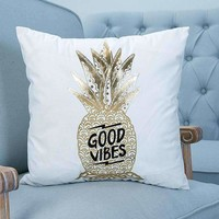 Arrival Modern Minimalist Pineapple Hot Stamping Gold In Color Letter Decor Soft For Home