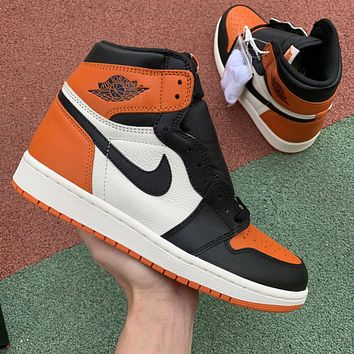 Air Jordan 1 Black Shattered Backboard