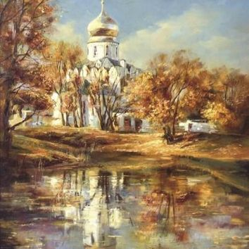 For Living Room Frameless Picture Painting By Numbers Decor DIY Digital Canvas Oil Painting Autumn landscape villa Wall Art