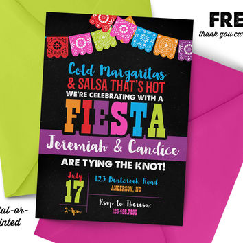 Fiesta Couples Shower Invitation