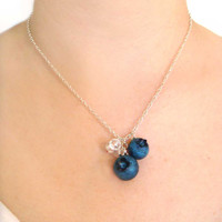 Blueberry Necklace by kawaiiculture on Etsy