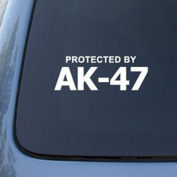 Protected By AK-47 - Car, Truck, Notebook, Vinyl Decal