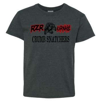 RZR Karnage Crumb Snatchers on a Youth Dark Heather Shirt