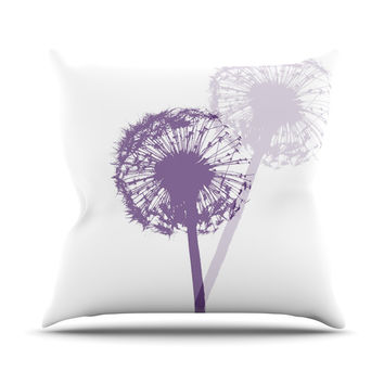 "Monika Strigel ""Dandelion"" Purple Flower Throw Pillow"