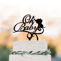 Baby Shower cake topper, party Cake decor, Oh Baby cake topper, oh baby sign cake topper Acrylic cake topper