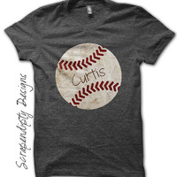 Iron on Baseball Shirt PDF - Sports Iron on Transfer / Customized Baseball Tshirt / Toddler Boys Sports Outfit / Digital Printable IT291-C