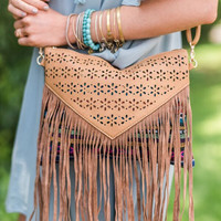 Moonlight Fringe Clutch