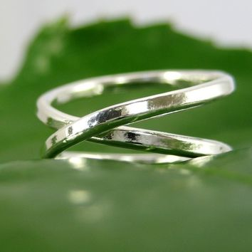 Fine Silver Infinity Eternity Ring, set of two, Sea Babe Jewelry