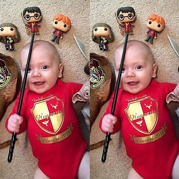 2017 Cute Newborn Baby Boys Girls Harry Potter  Bodysuit Jumpsuit One-Pieces Clothes