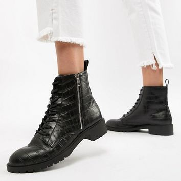 ASOS DESIGN Adrian lace up ankle boots at asos.com