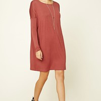 Dolman-Sleeved Shift Dress