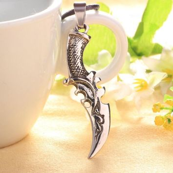 Jewelry Shiny Gift New Arrival Stylish Knife Pendant Titanium Accessory Strong Character Necklace [6542796483]