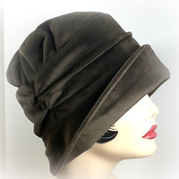 Flapper Hat Wide Brim Cloche the Alice in by TheWaughdrobe on Etsy