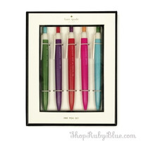 """Kate Spade """"So well Composed"""" Pen set of 5"""
