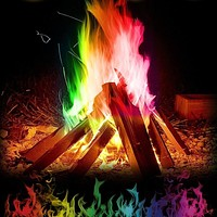 15g Mystical Fire Colored Flames Bonfire Sachets Fireplace Pit Patio Gags Toy Professional Gags Pyrotechnics