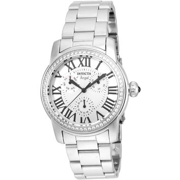 Invicta Women's 21705 Angel Quartz 3 Hand Silver Dial Watch