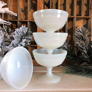 Hazel Atlas Platonite Sherbet Glass, Atlas Sherbet, Sherbet Glass, Moderntone Glass, Champagne Glass, Vintage Monax Glass, Old Glass, Gift