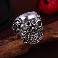 Men's Skull Ring in Stainless and Alloy