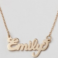 Initial Reaction Cursive Words Necklace