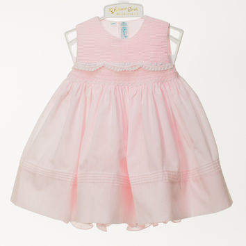 Feltman Brothers Pink Baby Dress with Delicate Details