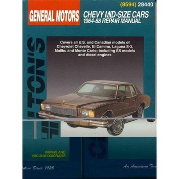 Chilton's General Motors: Chevy Mid-Size Cars : 1964-88 Repair Manual (Chilton's Total Car Care Repair Manual)