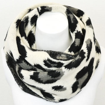 Luxe Leopard Sweater Scarf