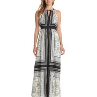 Vince Camuto Women's Empire Waisted Maxi Dress, Baroque, 4 - save winkie Shop