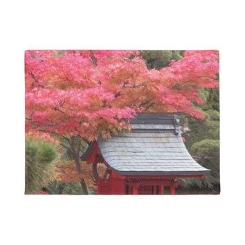 Red Japanese Maple Photo Doormat
