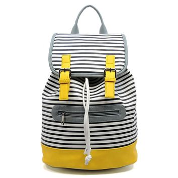 Colorblock Stripe Backpack