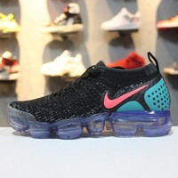 Nike Air VaporMax Flyknit Black Grey-Blue Noir 942843-003 Sport Running Shoes - Best Online Sale
