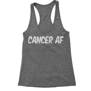 Cancer AF As F-ck Zodiac Racerback Tank Top for Women