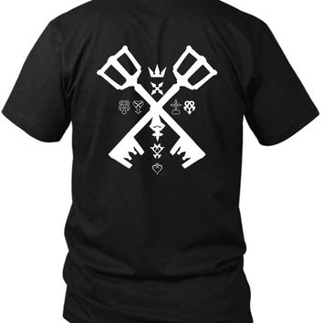 Kingdom Hearts 2 Sided Black Mens T Shirt