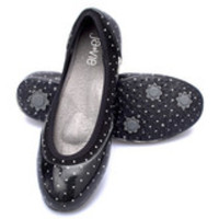 Black/White Baby dots Flats