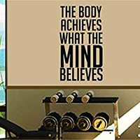 Dabbledown The Body Achieves What The Mind Believes Window Lettering Decal Sticker Decals Stickers