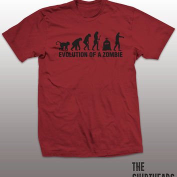 Evolution Of A Zombie Shirt - walking dead mens womens gift, funny tee, instagram, tumblr, daryl dixon, rick grimes, michonne, humor graphic