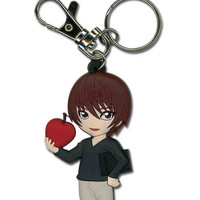 """Death Note: """"Keyring (Die-Cut) - Light Holding Apple (GE3985)"""" : TokyoToys.com: UK Based e-store, Anime Toys Retail & Wholesale, Manga Action Figures,  Hentai Statues, Japanese Snacks, Pocky, DVDs, Gashapon,  Cosplay, Monkey Shirt, Final Fantasy, Bleach, N"""