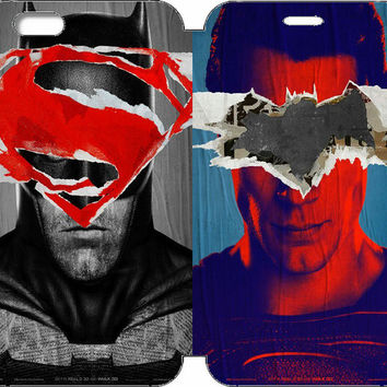 "Batman v Superman: Dawn of Justice Wallet Case w/ STAND Flip Cover for iPhone 6/6s PLUS (5.5"")"