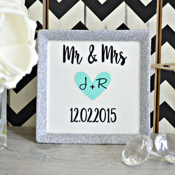 Mr and Mrs Wedding Ring Dish