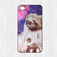 Dolla Dolla Bill Sloth Astronaut iPhone 4 Case,iPhone 4 4g 4s Hard Case,cover skin case for iphone 4/4g/4s case,More styles for you choose