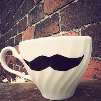 Moustache teacup by MrTeacup on Etsy