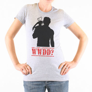 What Would Daryl Do? Daryl Dixon - T-Shirt - Available in Grey and White - Men's, Women's and Youth sizes AVAILABLE - 150