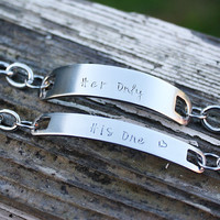 His One, Her Only Couples ID Bracelets, personalized