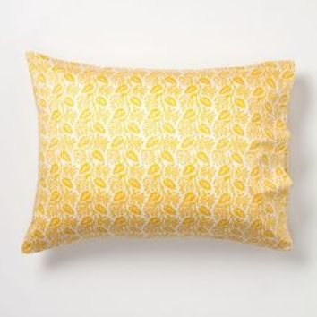 Boston Ivy Pillowcases in Gold Standard Size Bedding by Anthropologie