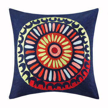 Josie by Natori Hollywood Boho Cotton Square Throw Pillow   Overstock.com Shopping - The Best Deals on Throw Pillows