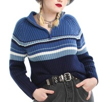 Vintage Y2K Margot Zip Neck Sweater - XL/2X