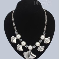 Silver All-matched Pearl Alloy Women Necklace