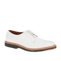 J.Crew Mens Alden White Suede Oxfords