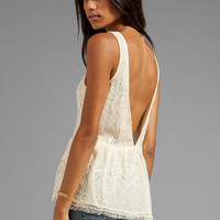 Lucca Couture Lace Tank in Ivory from REVOLVEclothing.com