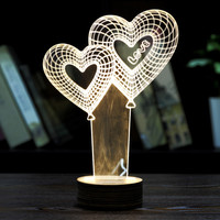 Home Decor Valentine's Day Christmas Gift 3D Visual LED Night Light Creative Lava Table Lamp Novelty Lighting