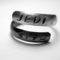Star Wars Jedi and Sith Stamped Sterling by dweebishdelights